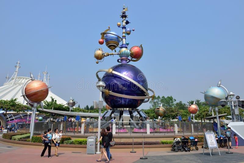 Disneyland i Hong Kong royaltyfri foto