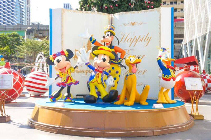 Disneyland Karaktermascottes van Mickey Mouse en vrienden royalty-vrije stock afbeelding