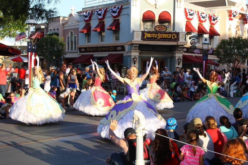 Disneyland karneval arkivbilder