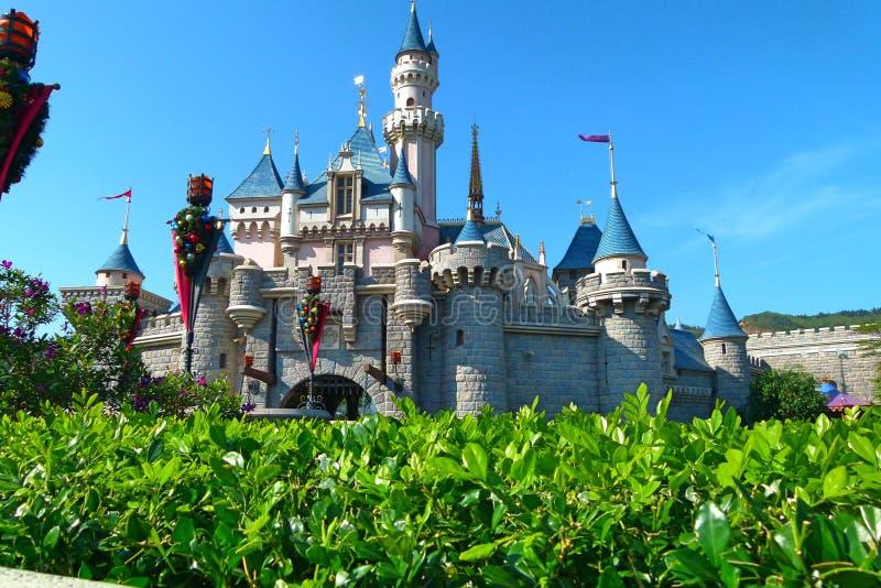 disneyland kong Hong Sypialnego piękna ` s kasztel w Hong Kong Disneyland zdjęcie royalty free