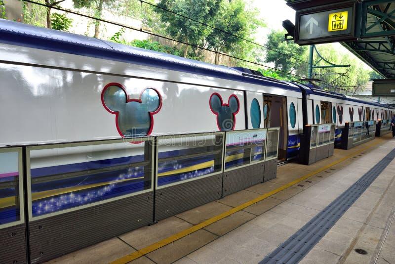 Disneyland kurortu linia, Hong Kong fotografia stock