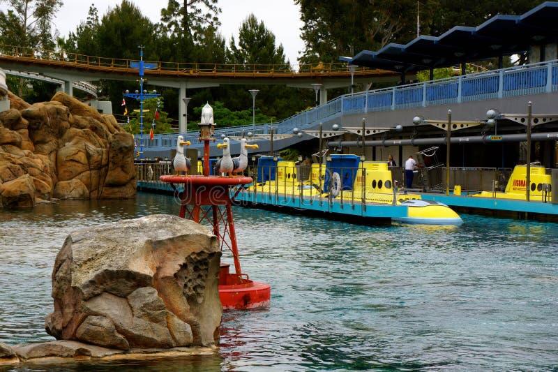 Disneyland Onderzees Avontuur stock afbeeldingen