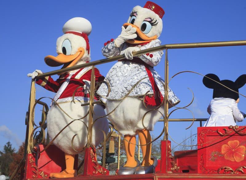 Disneyland - parada, Paryż zdjęcia royalty free