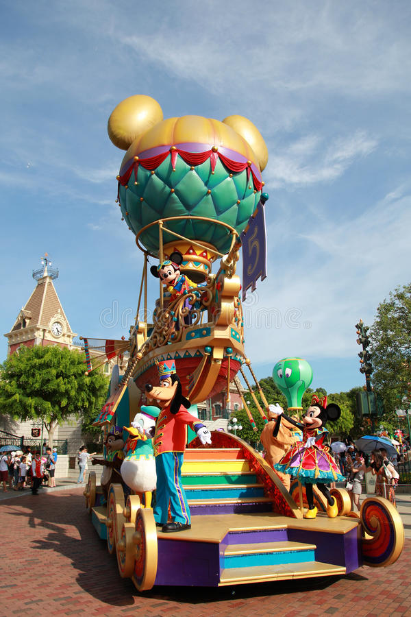Disneyland Parade royalty-vrije stock fotografie