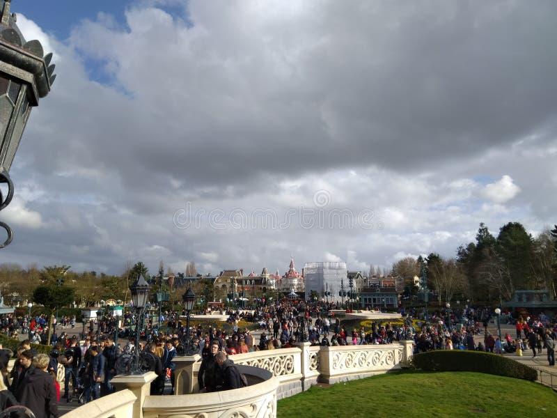 Disneyland Parigi quindicesimo Anniversarry fotografia stock