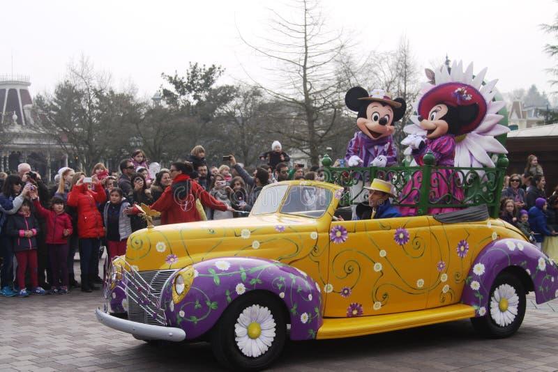 Disneyland Parigi quindicesimo Anniversarry immagini stock libere da diritti