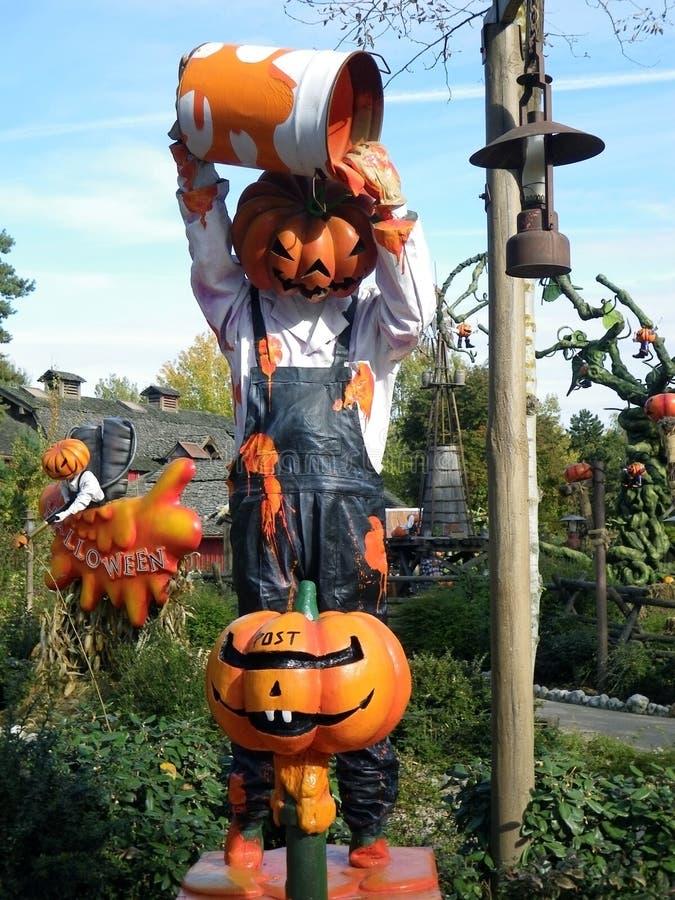 Disneyland Parijs Halloween pompoenen stock afbeeldingen