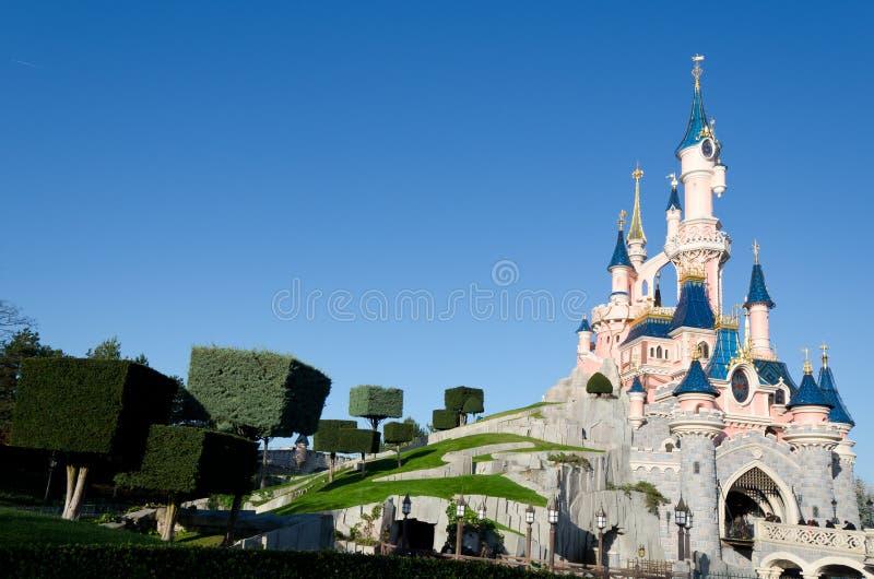 Disneyland Parijs Kasteel Redactionele Afbeelding