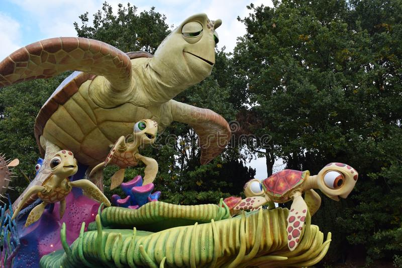 Disneyland Parijs Parade stock foto's