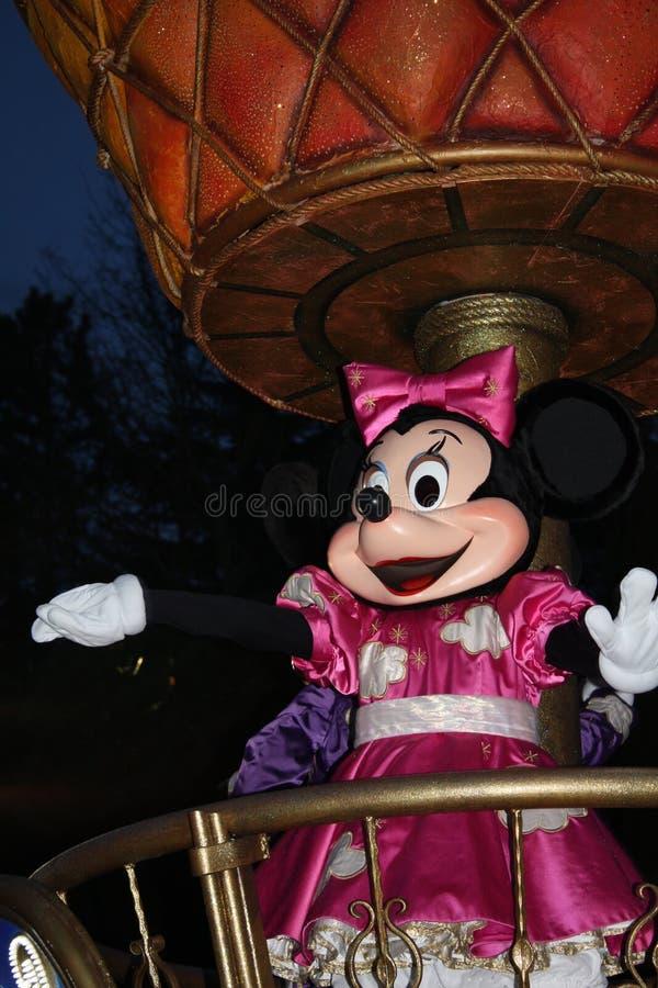 Disneyland Parijs parade bij nacht stock foto