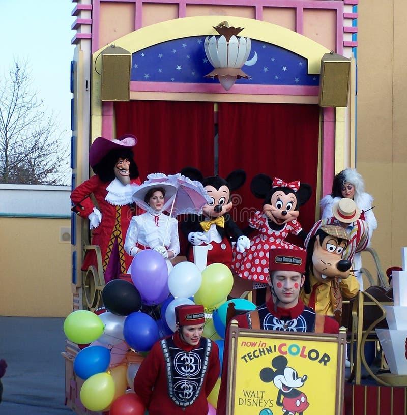 Disneyland Parijs Parade met Mickey en Minnie royalty-vrije stock afbeelding