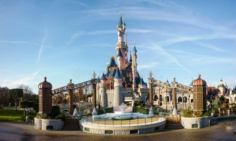 DISNEYLAND PARIJS Prinses Castle stock afbeeldingen