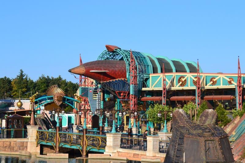 Disneyland Parijs Steampunk stijlblimp royalty-vrije stock afbeeldingen