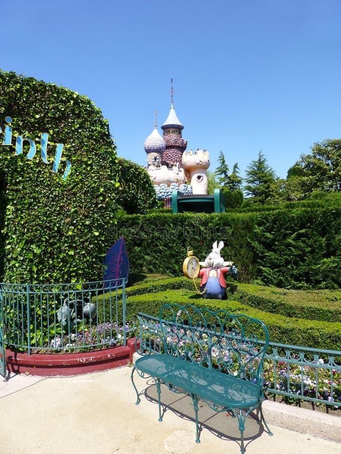 Disneyland Parijs vijftiende Anniversarry stock fotografie