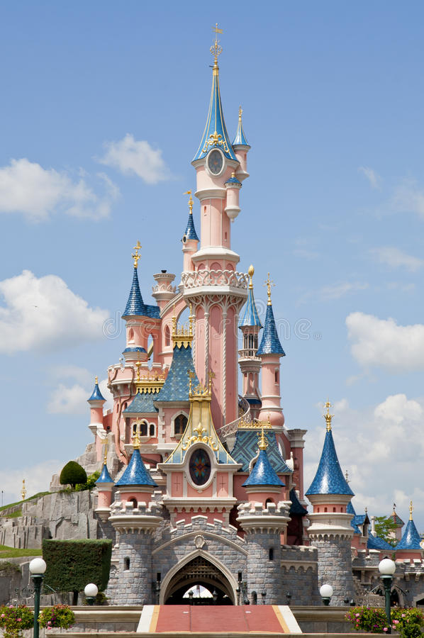 disneyland paris royaltyfria foton