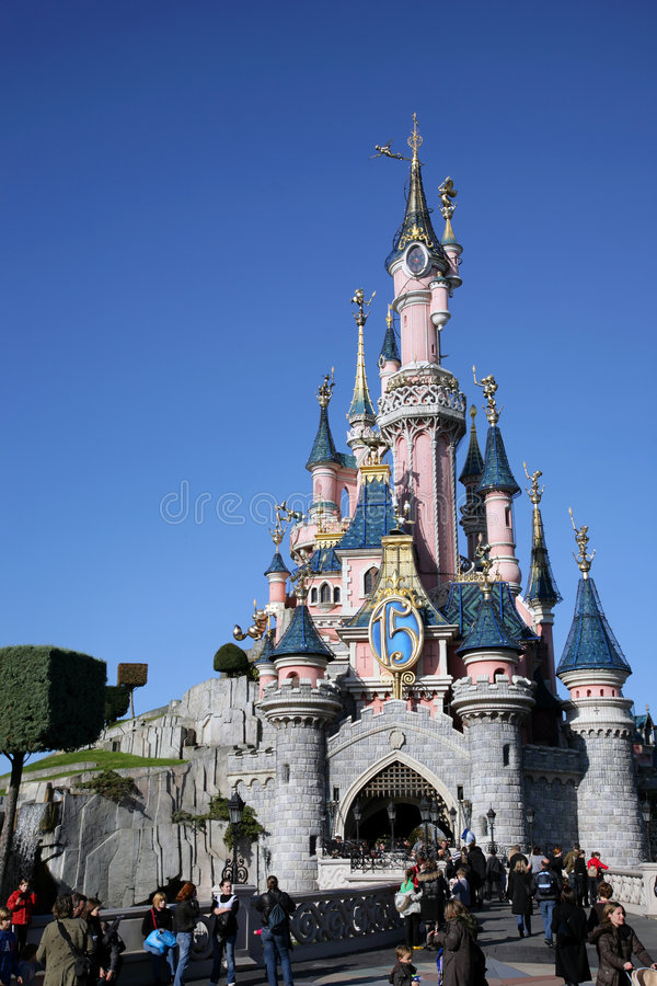 disneyland paris royaltyfri foto