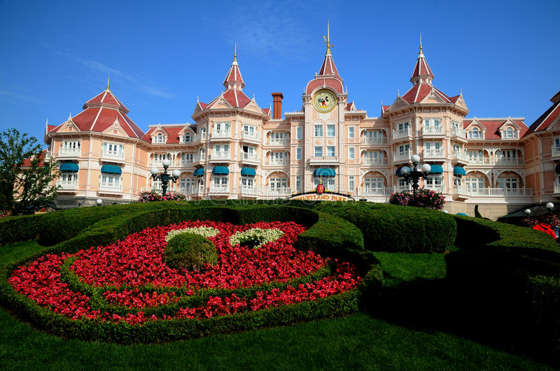 Disneyland Paris - entrance to the park stock photography