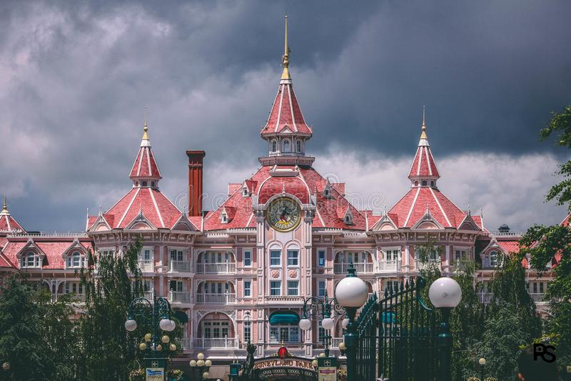 Disneyland Paris entrou imagens de stock royalty free