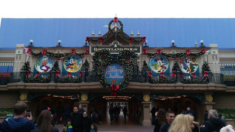 Disneyland Paris main street station royalty free stock photo