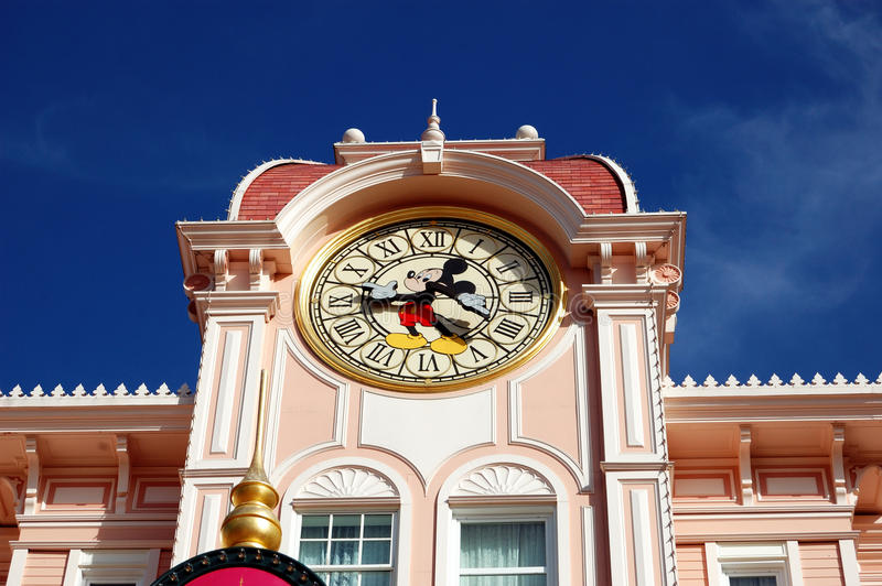 Download Disneyland Paris Park, Mickey Mouse Clock Tower Editorial Stock Photo - Image: 19724753