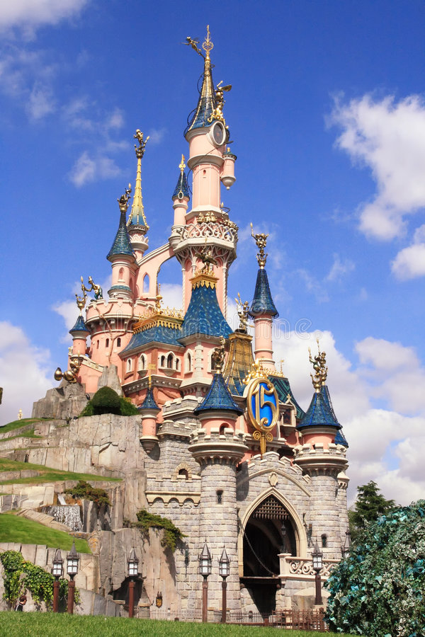 Disneyland Park dichtbij Parijs stock foto's