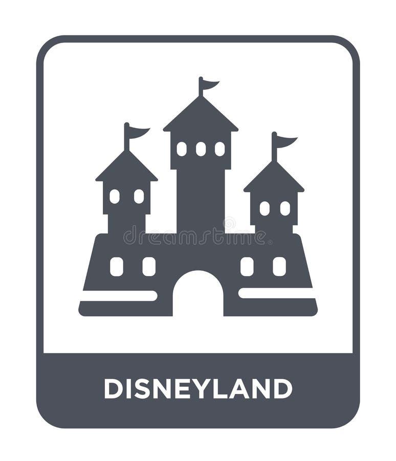 disneyland pictogram in in ontwerpstijl disneyland pictogram op witte achtergrond wordt geïsoleerd die disneyland vector eenvoudi vector illustratie