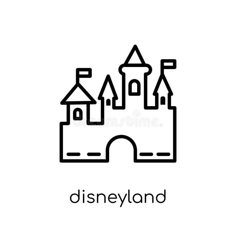Disneyland pictogram van Vermaakinzameling vector illustratie