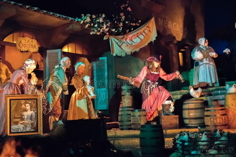 Disneyland Resort nöjesfält i Anaheim, Kalifornien royaltyfri bild