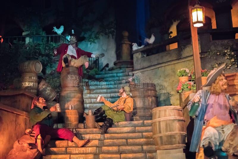Disneyland Resort nöjesfält i Anaheim, Kalifornien arkivfoton
