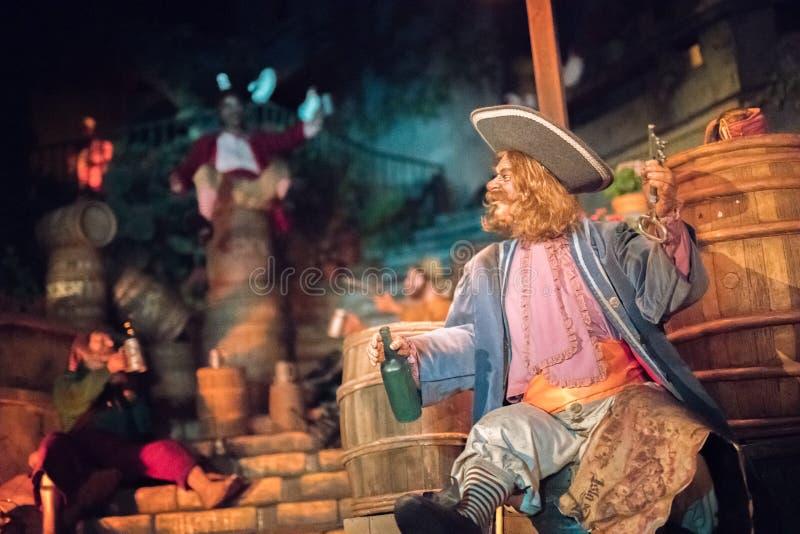 Disneyland Resort nöjesfält i Anaheim, Kalifornien arkivfoto