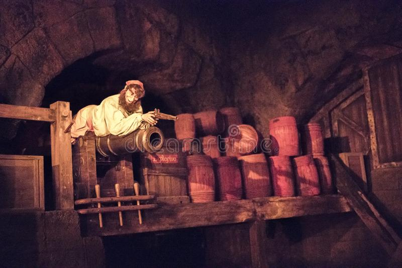 Disneyland Resort -Themapark in Anaheim, Californië stock afbeelding