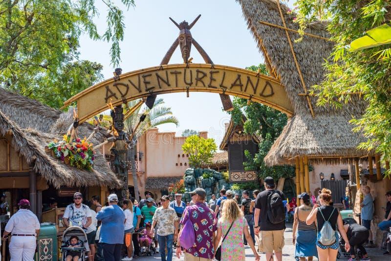 Disneyland ` s Adventureland in Anaheim, Californië royalty-vrije stock afbeelding