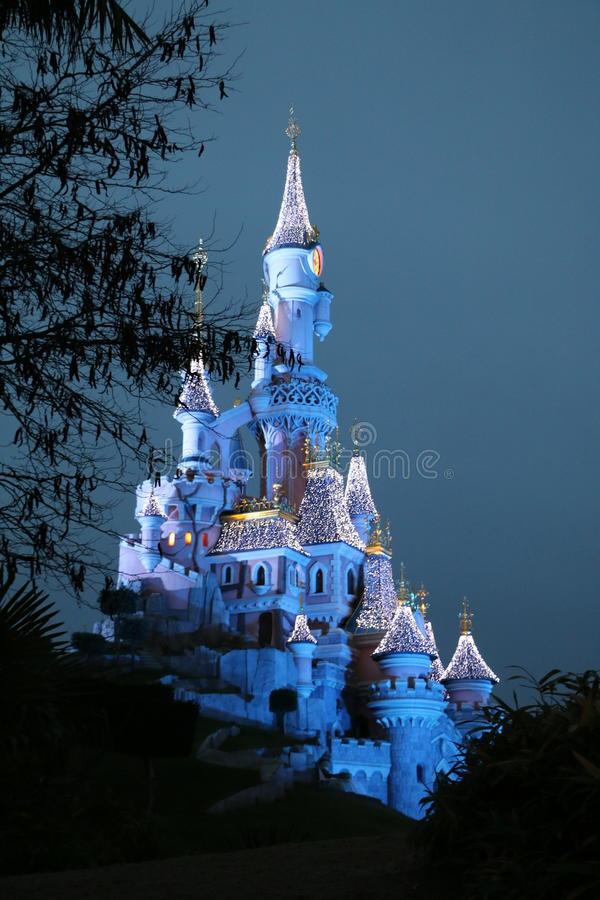 Disneyland-Schloss stockbild