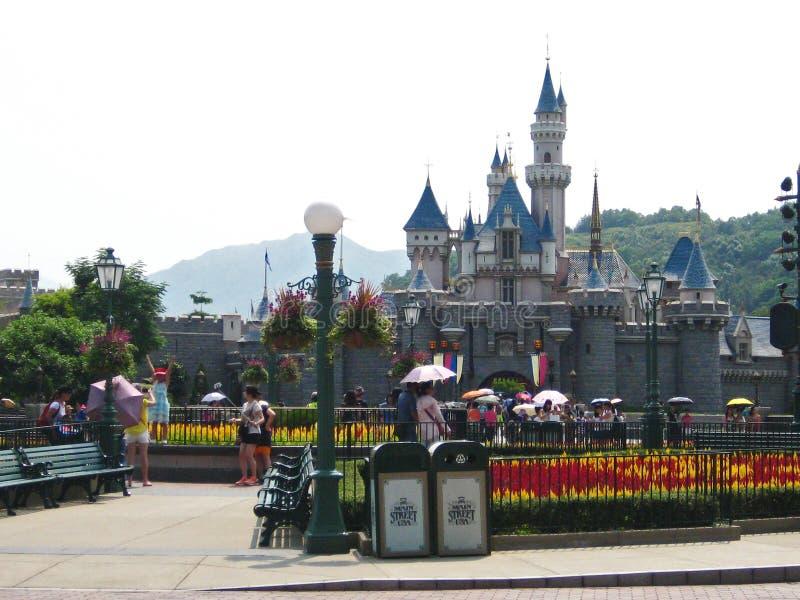 Disneyland slott royaltyfri foto