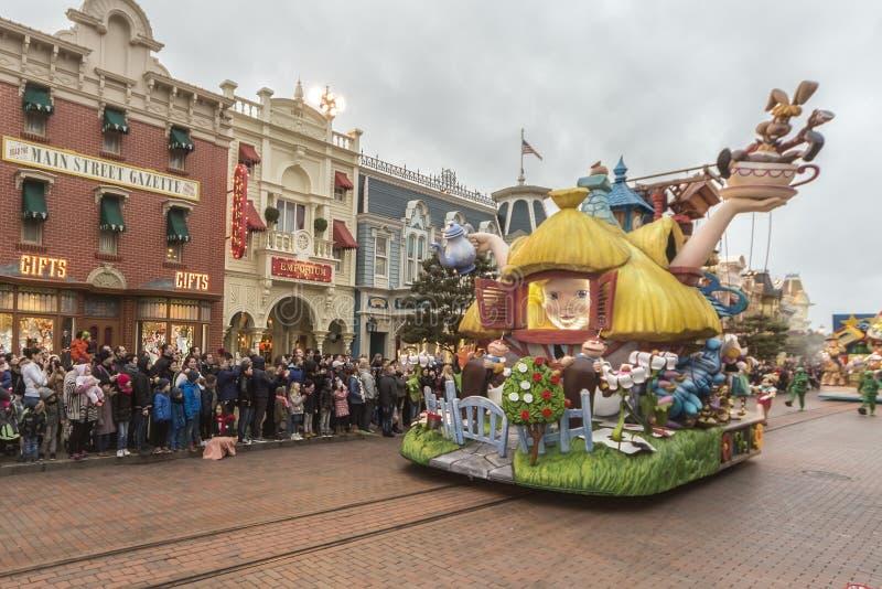 disneyland ståtar paris royaltyfria foton