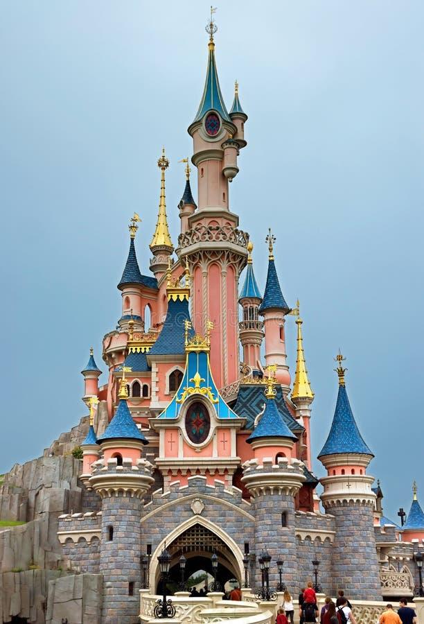 Disneyland - Sypialnego piękna kasztel obrazy royalty free