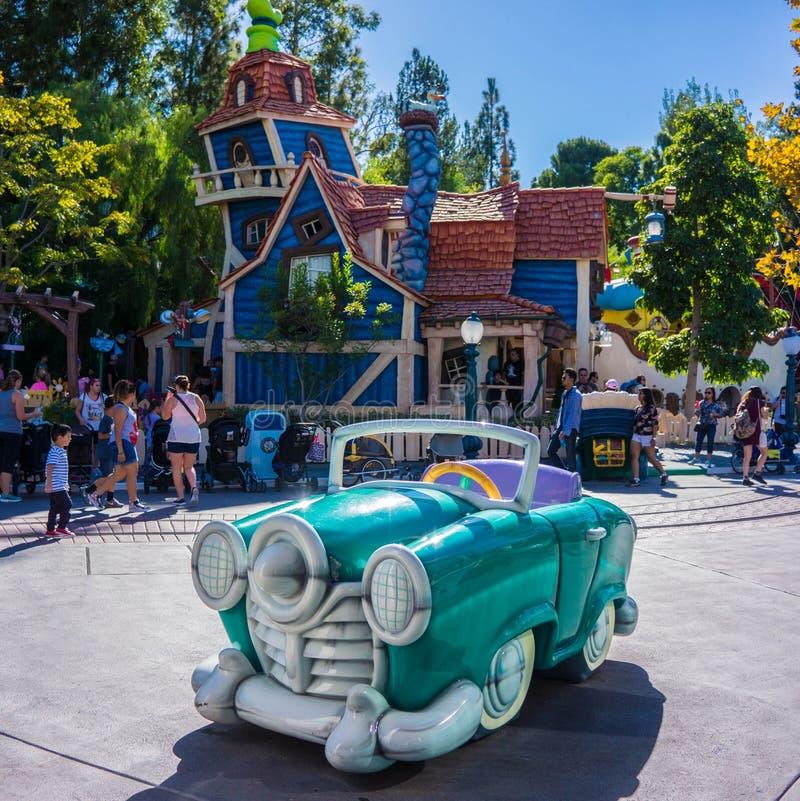 Disneyland ToonTown Anaheim Kalifornien arkivbilder