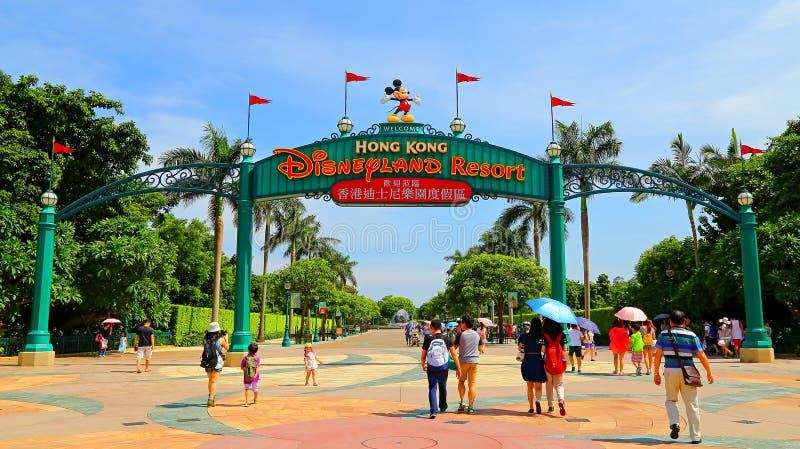 Disneyland van Hongkong royalty-vrije stock afbeeldingen