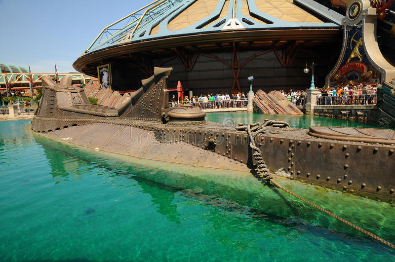 Disneylandya - nautilus modelo de la nave foto de archivo