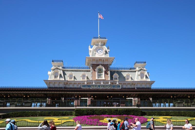 Disneyworld不可思议的王国入口 免版税库存照片