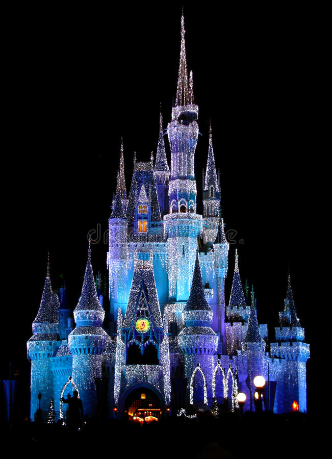 Disneyworld Magic Kingdom Castle Lights 2 stock image