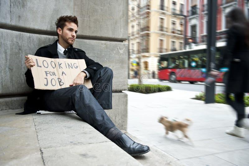 disoccupati dell'uomo fotografie stock