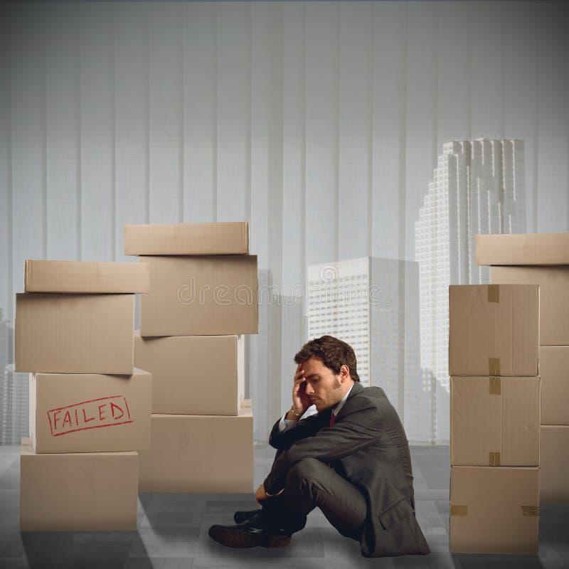 Disoccupati dell'uomo d'affari immagine stock