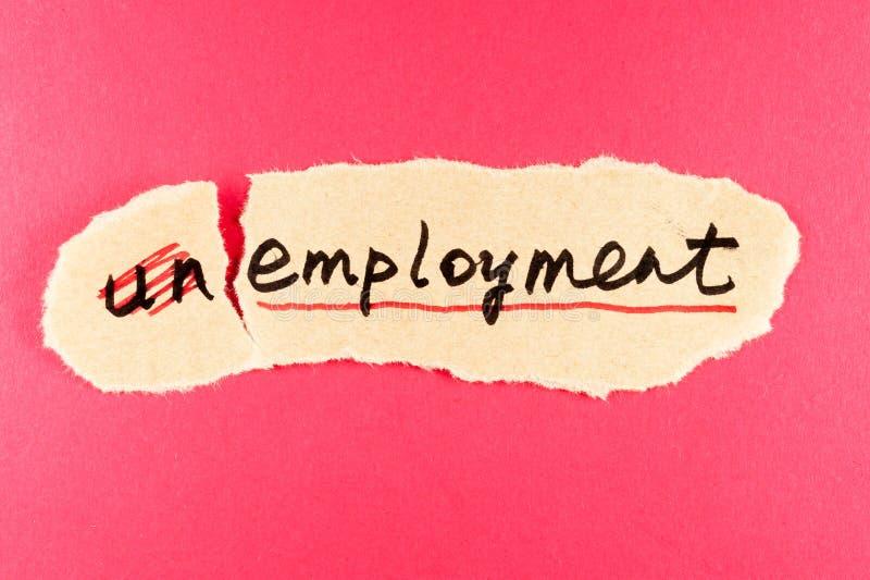 Disoccupazione ad occupazione fotografia stock