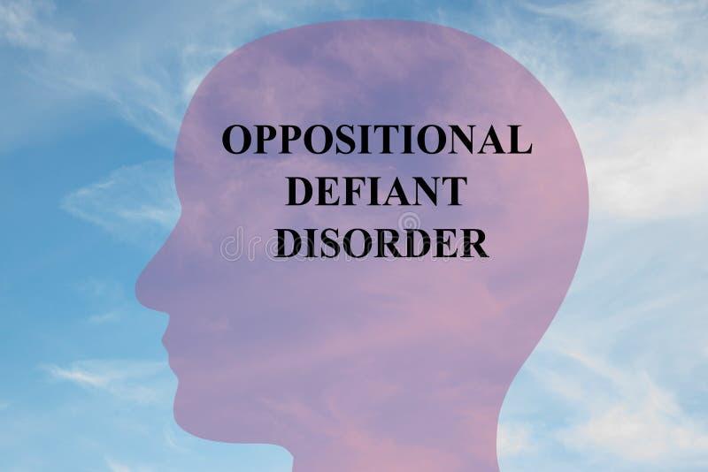 Disordine ribelle oppositivo - concetto mentale illustrazione di stock
