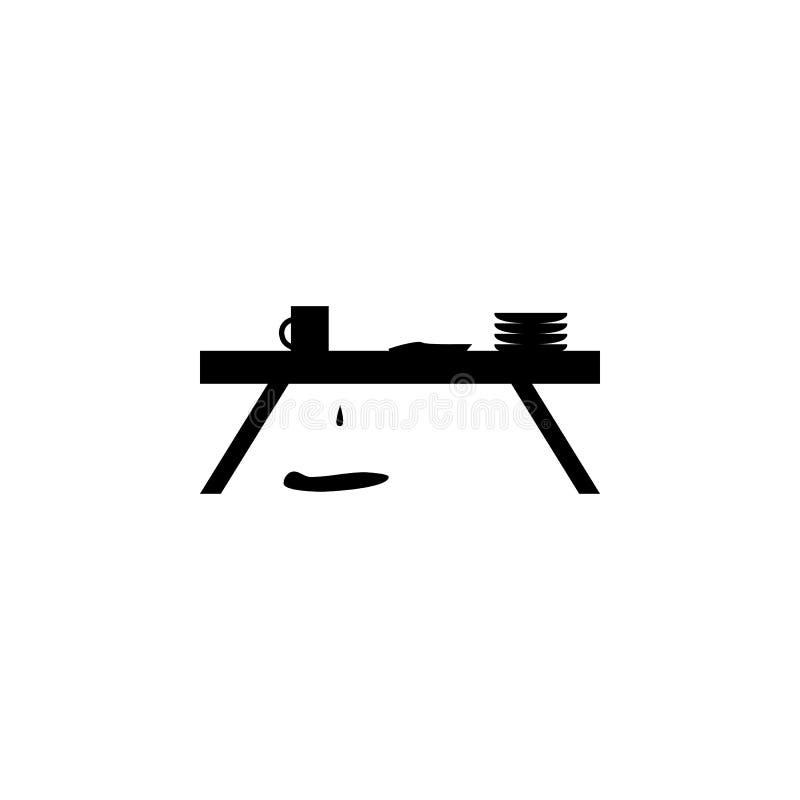 Disordine sull'icona del ½ del ¿ del tableï illustrazione di stock