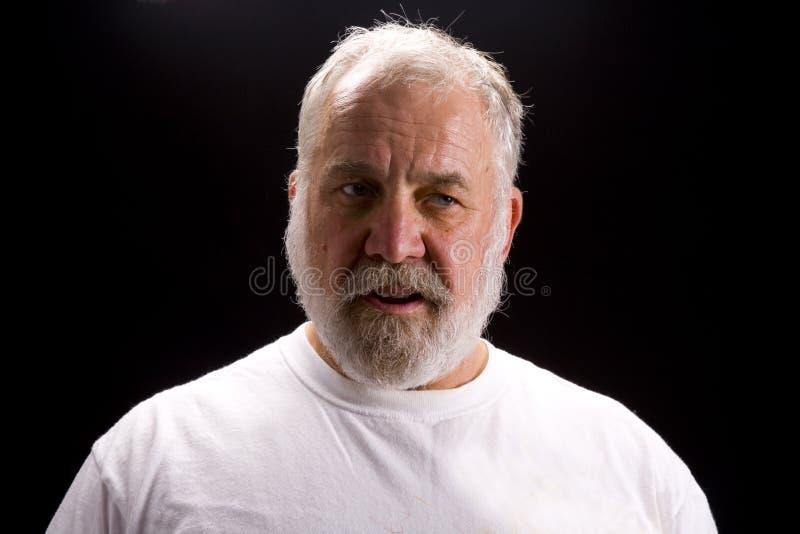 Disparado de um homem idoso fotografia de stock royalty free
