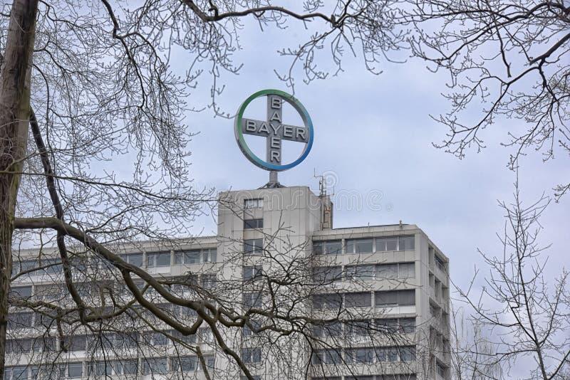 Disparado do logotipo de Bayer foto de stock royalty free