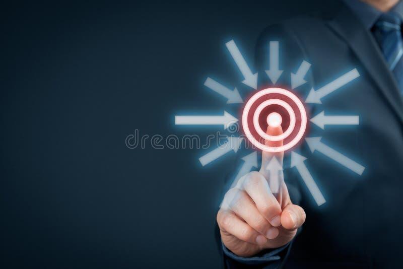 Disparador do objetivo do alvo imagem de stock