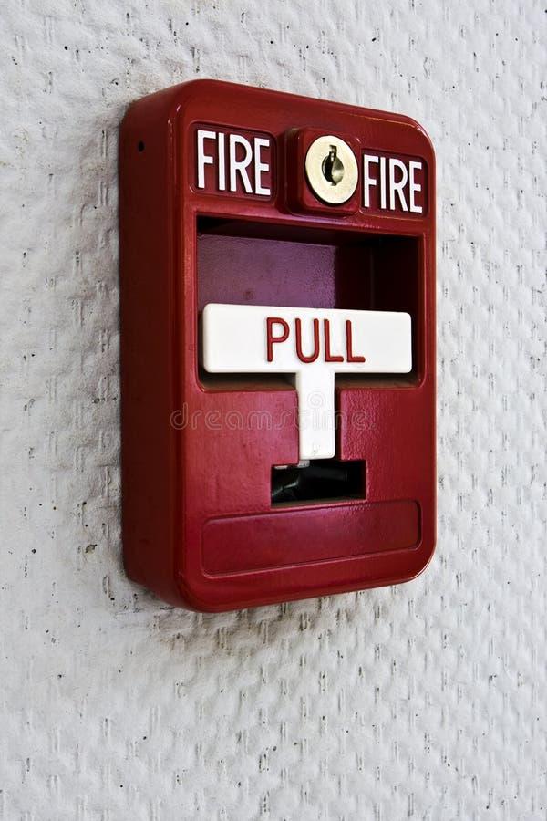 Disparador la alarma de incendio fotos de archivo